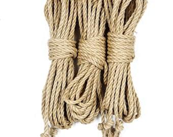 Unprocessed jute bondage rope - single ply