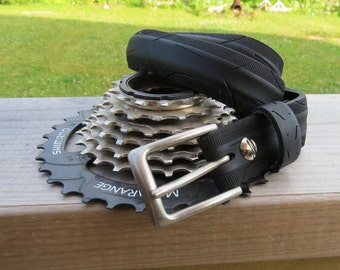 ReCycled Bicycle Tire Belt: Hexes and Arches