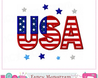 USA applique,USA embroidery,USA design,Patriotic applique,4th of July,Independence Day.-09