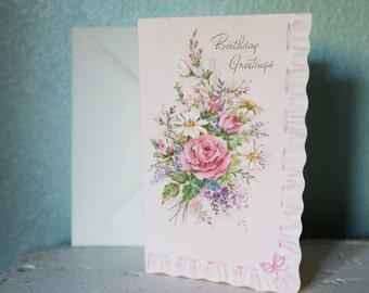 Beautiful Vintage Birthday Card