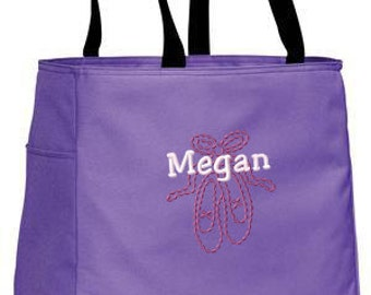 Personalized Tote Bag Embroidered Tote Bag Custom Tote Bag - Sports - Ballet - B0750