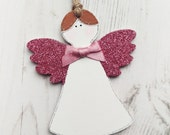 Personalised Christmas Decorations  Christmas Angel Keepsake  Handmade Decoration  Stocking Filler  tree decoration