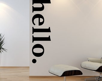 hello door decal welcome wall stickers hello wall decal quotes hello wall mural