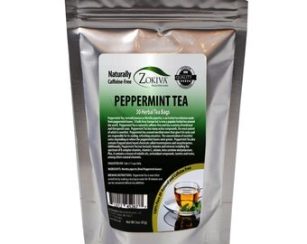 Peppermint Tea 30 Bags 100% Natural Premium Mentha piperita in Resealable Pouch