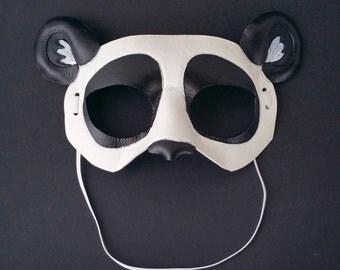 Small Petite Leather Panda Mask Child Mask