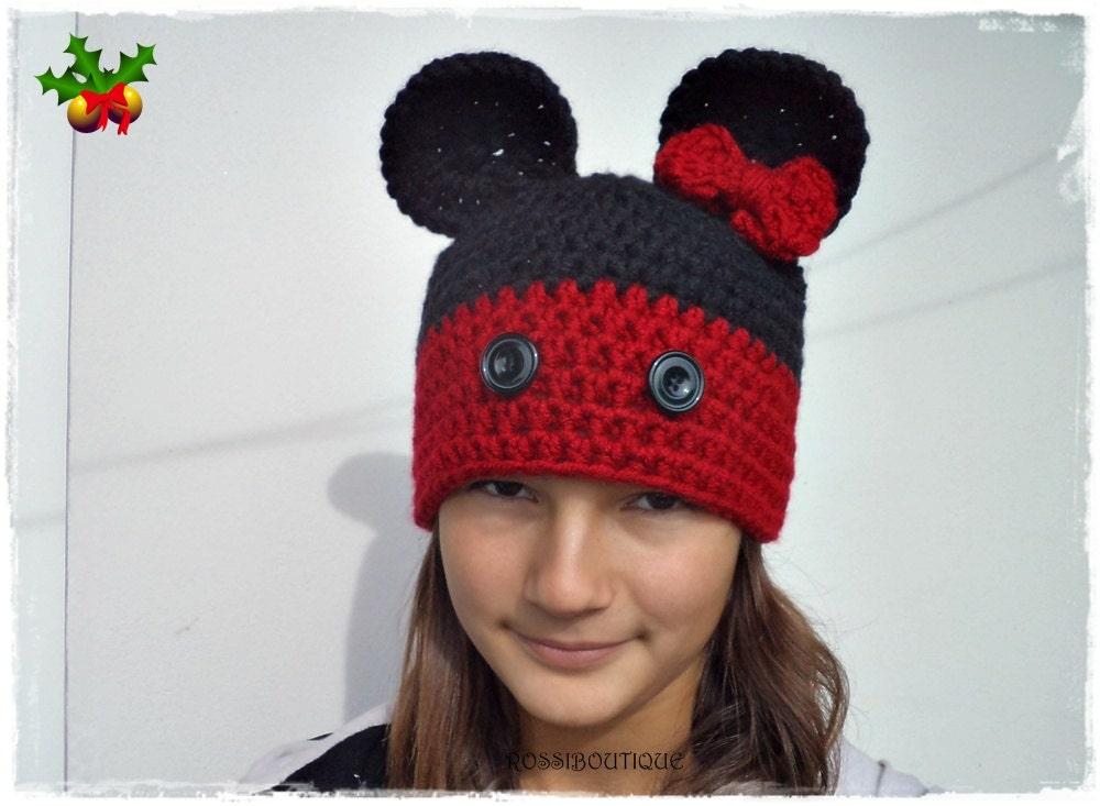 Crochet Mouse Hat Baby Mouse Hat Kids Mous Hat Maus Hat All
