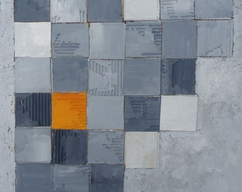 """Original textured abstract mixed media painting suitable for a modern interior-Title""""The Unusual""""-Size 50x70x4"""