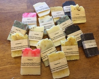 4 pack sampler of all natural homemade soap (custom labels on request)