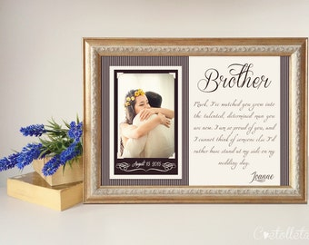 Brother Wedding Gift - Best Friend Thank You gift Wedding, Gift for Best Friend of the Bride, Custom Wedding Gift