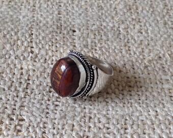 Ethnic Nepali Brownstone Ring