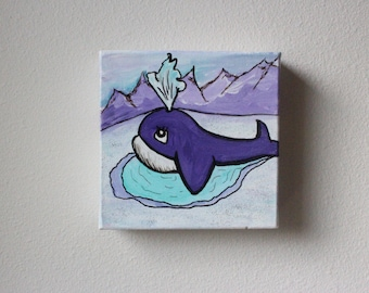 Arctic Whale Painting