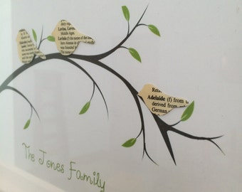 Lost in a Book - Family Tree *Upcycled Book*