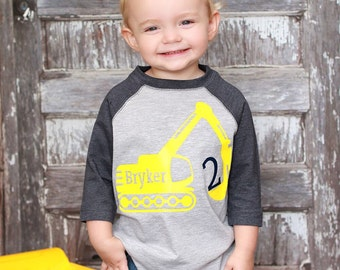 Construction birthday shirt, digger birthday shirt, construction t-shirt, digger shirt, construction birthday party, digger party