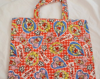 Pretty Soldier Sailormoon SuperS Quilted Tote Bag Purse