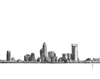 Art Print - Charlotte, NC Skyline