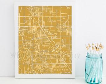 Brentwood Map Brentwood Art Brentwood Map Art Brentwood Print Brentwood Printable Brentwood City Art California Art