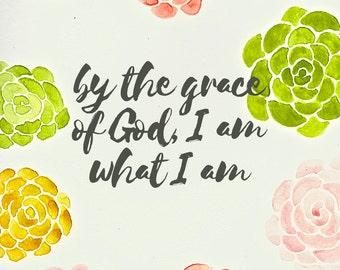 DIGITAL DOWNLOAD Rose Art Print: By the Grace of God