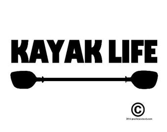 Kayak Vinyl Decal Sticker