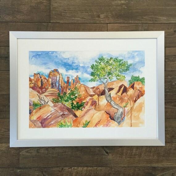 Devil's Garden Moab Utah- Watercolor Painting