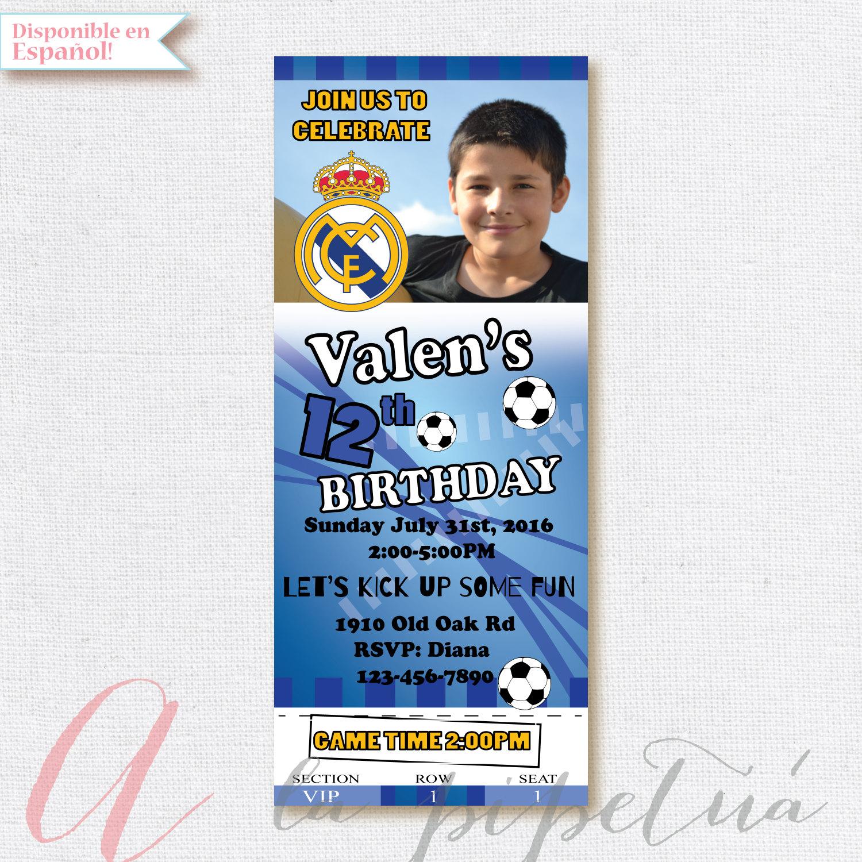 Soccer birthday party invitation. Boy birthday party. Soccer