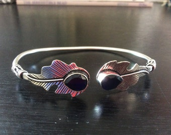 Feather Sapphire Bracelet