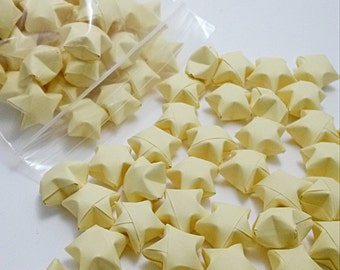 Pastel Yellow Origami Lucky Stars 100 Count
