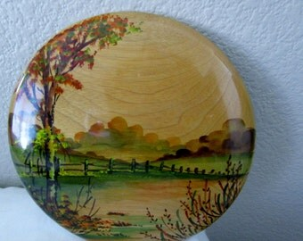 Myrtle Wood Painted Plaque