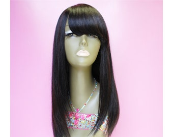 WiShe Dahlia : 100% Luxury Remy Custom Made Human Hair Wig- Classic Straight Look