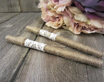 Guest book pens, bridal shower gift, rustic pen, pen for guest book, wedding pen, country wedding decor, twine pen, pen with initials