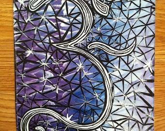 Crystal Om, 8x10 print