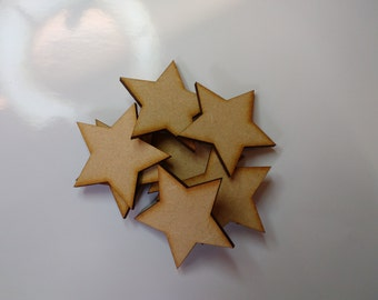 wooden crafts shapes, STARS, embellishments. decoupage, scrapbooking