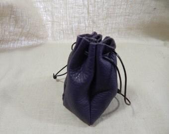 Drawstring Purple Pouch
