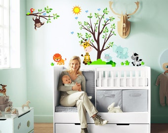 Jungle Animal Wall Decals, Safari Wall Decals (Full Size Animals Safari ),  Jungle Part 87