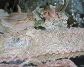 Jeanne d'Arc Living Vintage Shabby Style Apricot, Tea Rose or Powder Rose Color Crochet Belt w/Ties