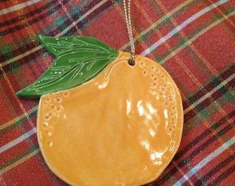 Orange Ornament orange Christmas ornament handcrafted ornament Fruit ornament Florida ornament California ornament