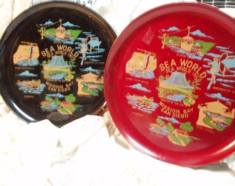 Sea World San Diego souvenir plates/platter