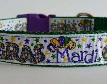Mardi Gras Sparkle Dog Collar - READY TO SHIP!