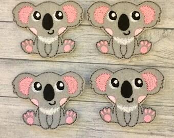 """4 cutie koala felties large 2""""x2.5"""""""
