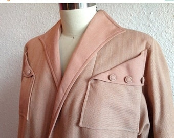 SALE 1940s pale peach wool coat