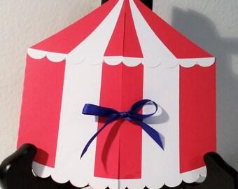 Circus Tent Invitation - Big Top Invitation - Carnival Invitation - Boy Birthday - Girl Birthday  - Birthday Party Invitation