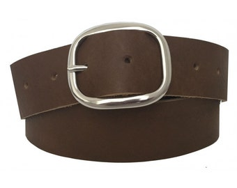 Chestnut Brown Leather Belt Strap - Full Grain Leather