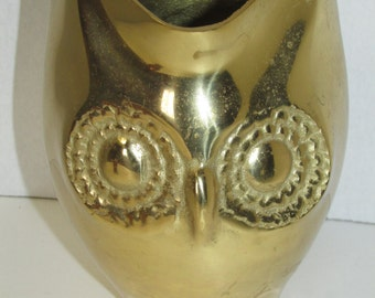 Brass Owl Flower Pot Planter Owl Decor Retro