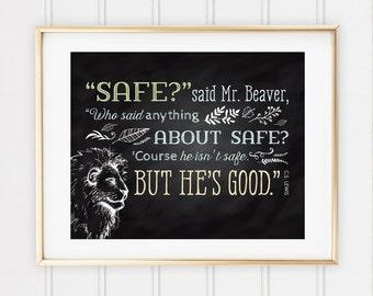Chalkboard Nursery Print, Chronicles of Narnia Quote, 8x10 Custom Print