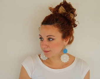 Wooden Earrings Dentelle Unique Earrings Gift for Her Lightweight Earrings Everyday Earrings Boho Earrings Bohemian Style