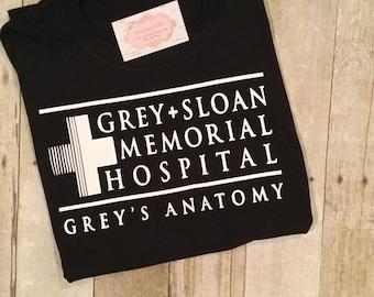 Greys Anatomy Tee Shirt, Grey Sloan Memorial Hospital Tee Shirt