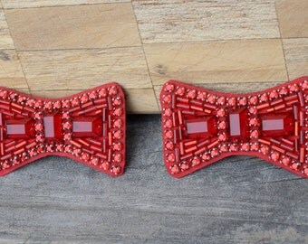 Replica hand-sewn ruby slipper bows