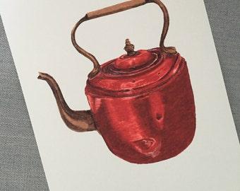 Copper Teapot Sketch - Print