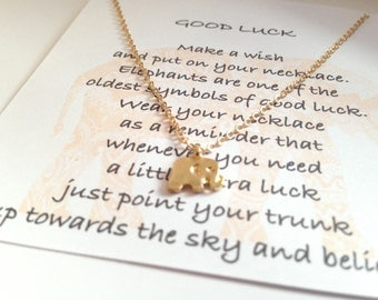 Good luck necklace elephant
