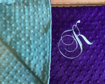 Turquoise Purple Paci Infant Stroller Toddler Teen Adult Made to Order with Monogram Option
