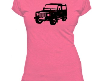 1990 Landrover Defender. Ladies fitted t-shirt.